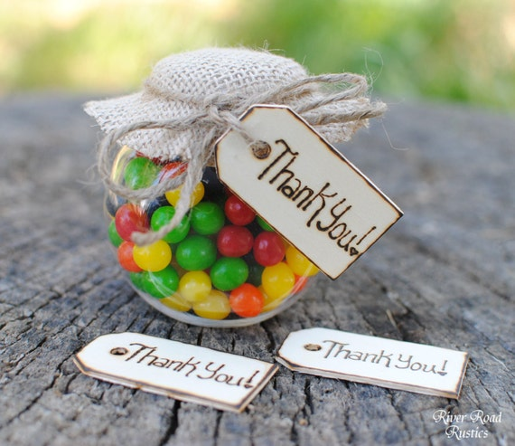 Rustic Wedding Favor Thank You Tags (Set of 50) Ships Quickly.