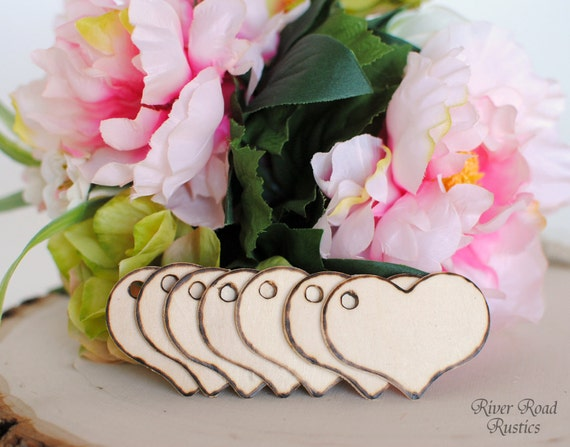 Rustic Wood Heart Tags(Set Of 150-) for your Wishing Tree, Escort Cards, Place Cards, Favors, Gifts, Etc.