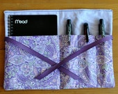 Mom on the Go Notepad Kit - Purple Paisley