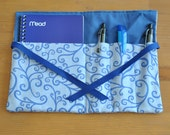 Mom on the Go Notepad Kit - Blue Swirl