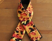 Flame Print DSLR Camera Strap Cover