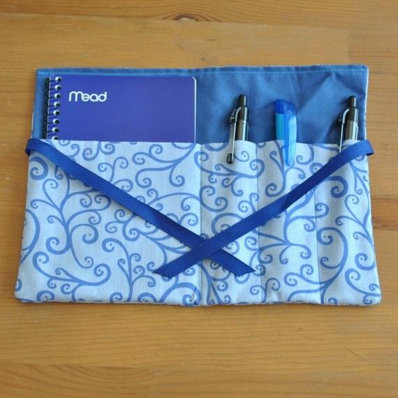 Mom on the Go Notepad Kit - Blue Swirl