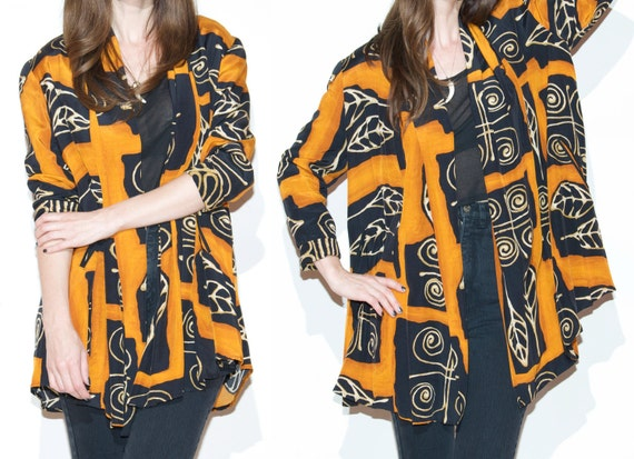 SALE  90s shrug duster kimono jacket