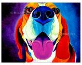 Beagle, Pet Portrait, DawgArt, Dog Art, Beagle Art, Pet Portrait Artist, Beagle Painting, Colorful Pet Portrait, Art Prints,