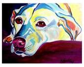 Labrador, Pet Portrait, DawgArt, Dog Art, Pet Portrait Artist, Colorful Pet Portrait, Labrador Art, Pet Portrait Painting, Art Prints