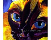 Siamese Cat, Pet Portrait, DawgArt, Cat Art, Pet Portrait Artist, Colorful Pet Portrait, Siamese Cat Art, Pet Portrait Painting, Art Prints