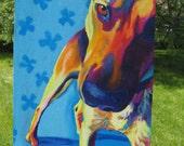 German Shepherd, Pet Portrait, DawgArt, Dog Art, German Shepherd Art, Original Painting, Colorful Dog Art, German Shepherd Painting, Dog