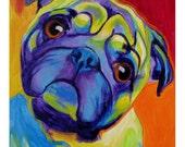 Pug, Pet Portrait, DawgArt, Dog Art, Pet Portrait Artist, Colorful Pet Portrait, Pug Art, Pet Portrait Painting, Art Prints