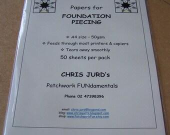 Foundation piecing paper