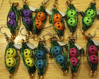YOU PICK the color of peas you want in your Pod Earrings