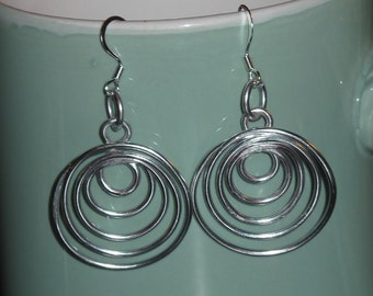 Wire Wrapped Multiple Hoop Earrings MADE to ORDER