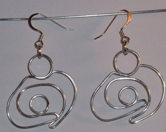 Wire Wrapped Mother and Child Earrings MADE to ORDER