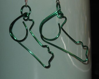 Wire Wrapped Alligator Earrings MADE to ORDER