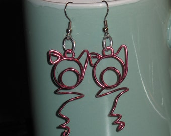 Wire Wrapped Pig Earrings MADE to ORDER