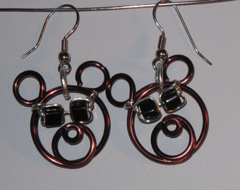 Wire Wrapped Bear Head Earrings Wearing Sunglasses MADE to ORDER