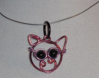 Wire Wrapped Pink Pig Pendant Wearing Sunglasses MADE to ORDER