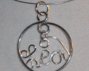 Wire Wrapped YOUR NAME Spelled Made to Order Pendant
