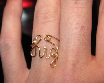 Wire Wrapped YOUR NAME Ring MADE to Order