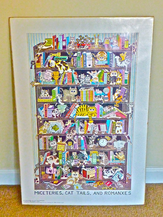 """Large Poster for Cat Lovers entitled """"Miceteries, Cat Tales, and Romanxes"""