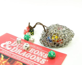 Chainmail Dice Bag For Dungeons And Dragons  Game - LARP - Medium Stainless Steel - SKDB-SS-M