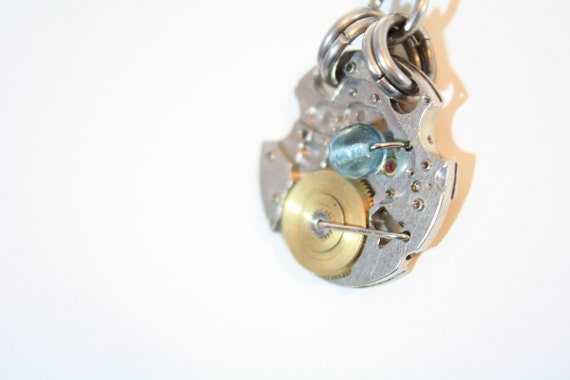 "Steampunk  Necklace Pendant ""The Mechanical Sea"" One Of A Kind"