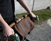 Brown Convertible Bicycle Handle Bar Bag