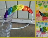 Rainbow Rosette Headband