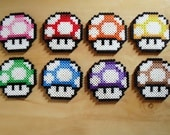 Mario Mushroom Coasters Sprite Set of 8