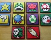 Mario Coaster Sprite Set of 4