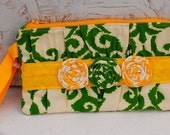 Ruffle Clutch Purse, Wristlet