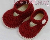Slippers Crochet PATTERN Christmas for Baby Holly Shoes digital
