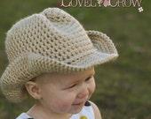 Baby Crochet Pattern Cowboy Hat  for BOOT SCOOT'N Cowboy Hat digital