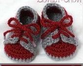 Baby Booties Crochet Pattern for LITTLE SPORT SADDLES digital