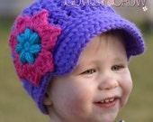 Baby Newsboy Beanie Crochet Pattern   LITTLE SPORT NEWSBOY hat digital