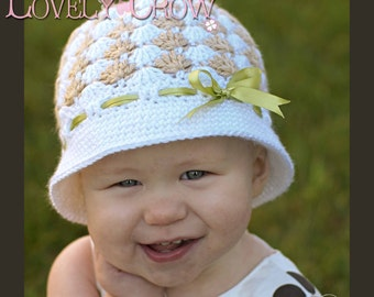 Baby Hat Crochet Pattern for SWEET ELEGANCE CLOCHE digital