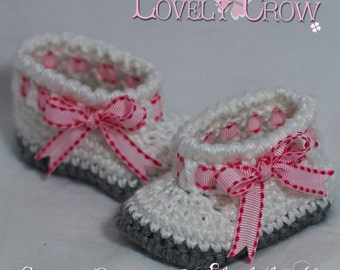 Booties Crochet Pattern for MY ANGEL BABY booties digital