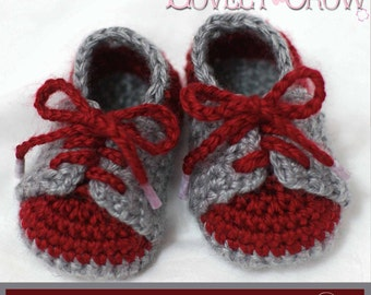 Baby Booties Crochet Pattern for LITTLE SPORT SADDLES digital