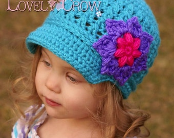 Newsboy Hat Crochet Pattern   LITTLE SPORT NEWSBOY hat digital