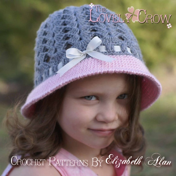 Crochet Pattern For Baby Cloche Hat : Cloche Crochet Pattern for My ANGEL BABY Cloche digital