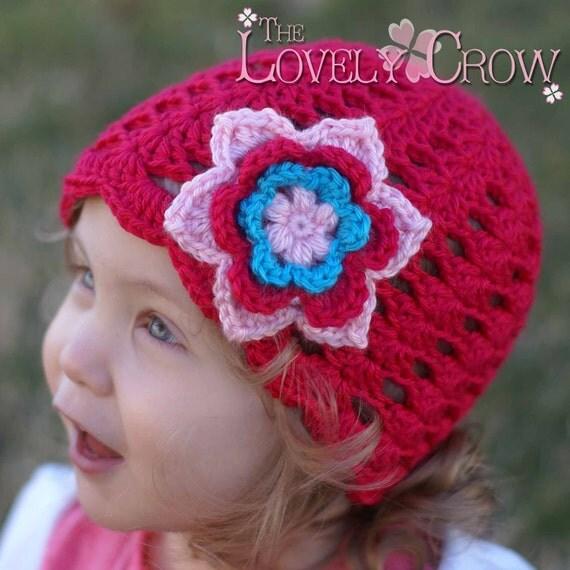 Baby Girl Hat Crochet Pattern for KINDRED SPIRITS BEANIE
