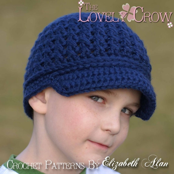 Crochet Pattern Newsboy Beanie   LITTLE SPORT NEWSBOY hat