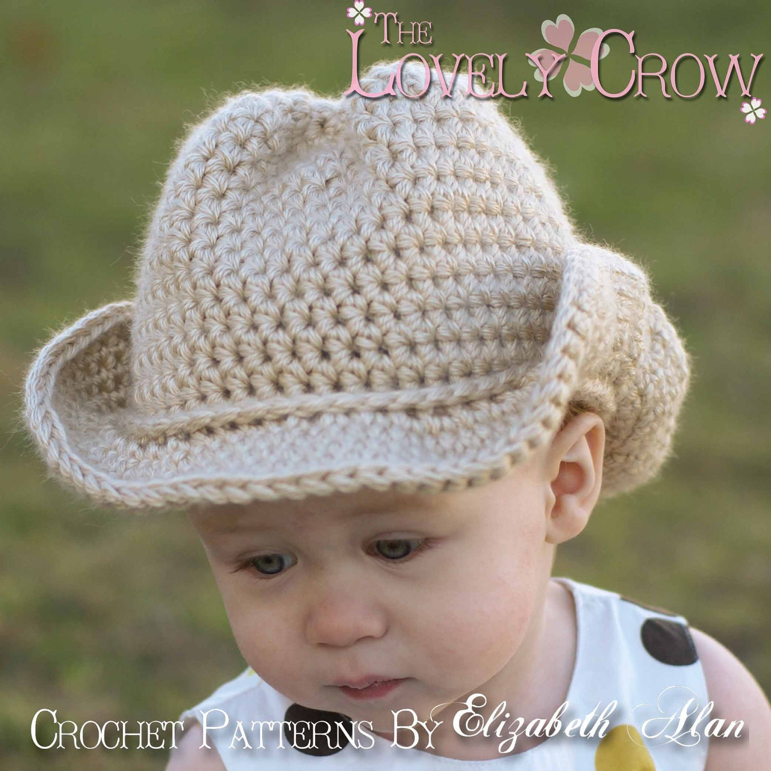 Crochet Newborn Hats : Baby Cowboy Crochet Pattern Cowboy Hat for BOOT by TheLovelyCrow