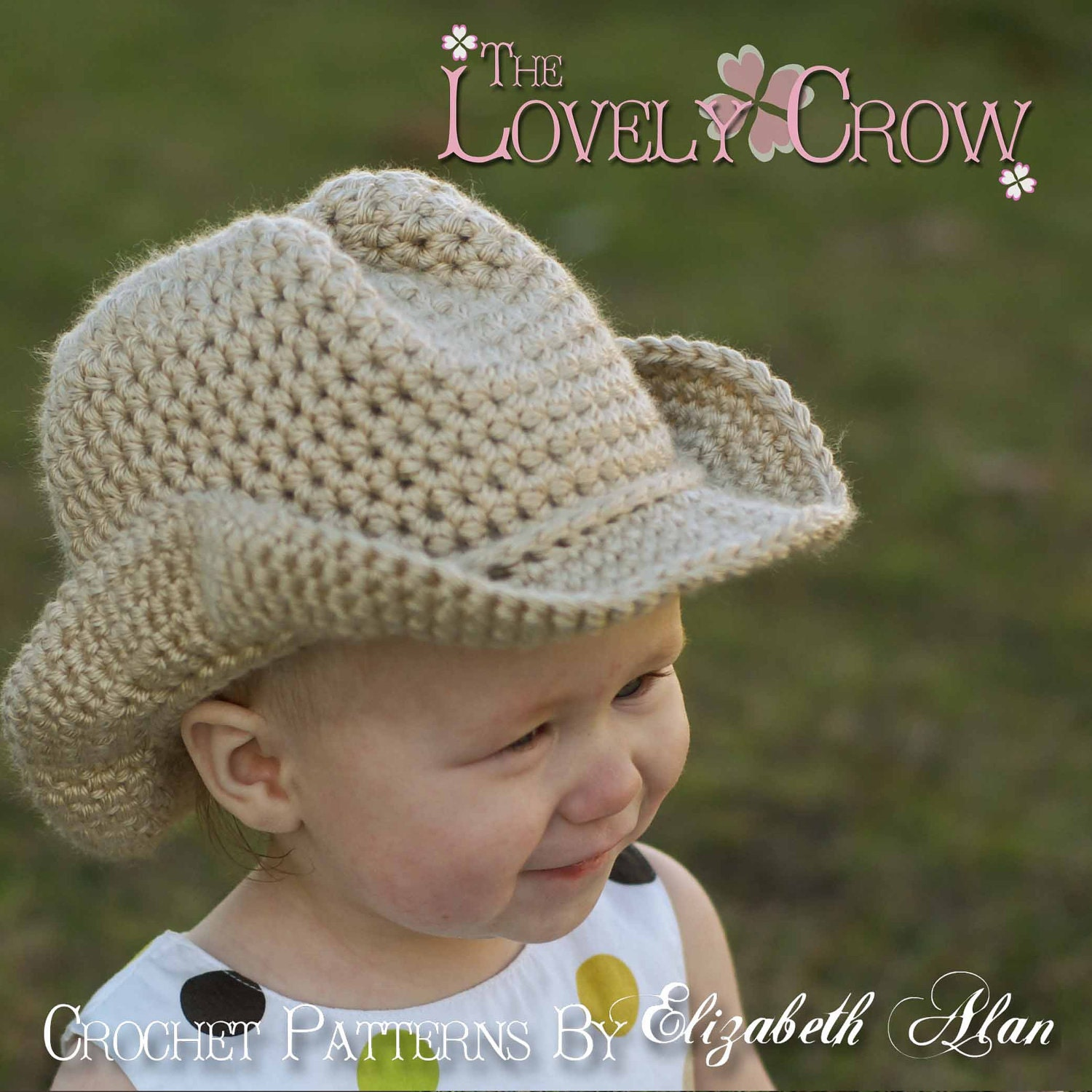 Crochet Stitches Baby Hats : Baby Crochet Pattern Cowboy Hat for BOOT SCOOTN by TheLovelyCrow