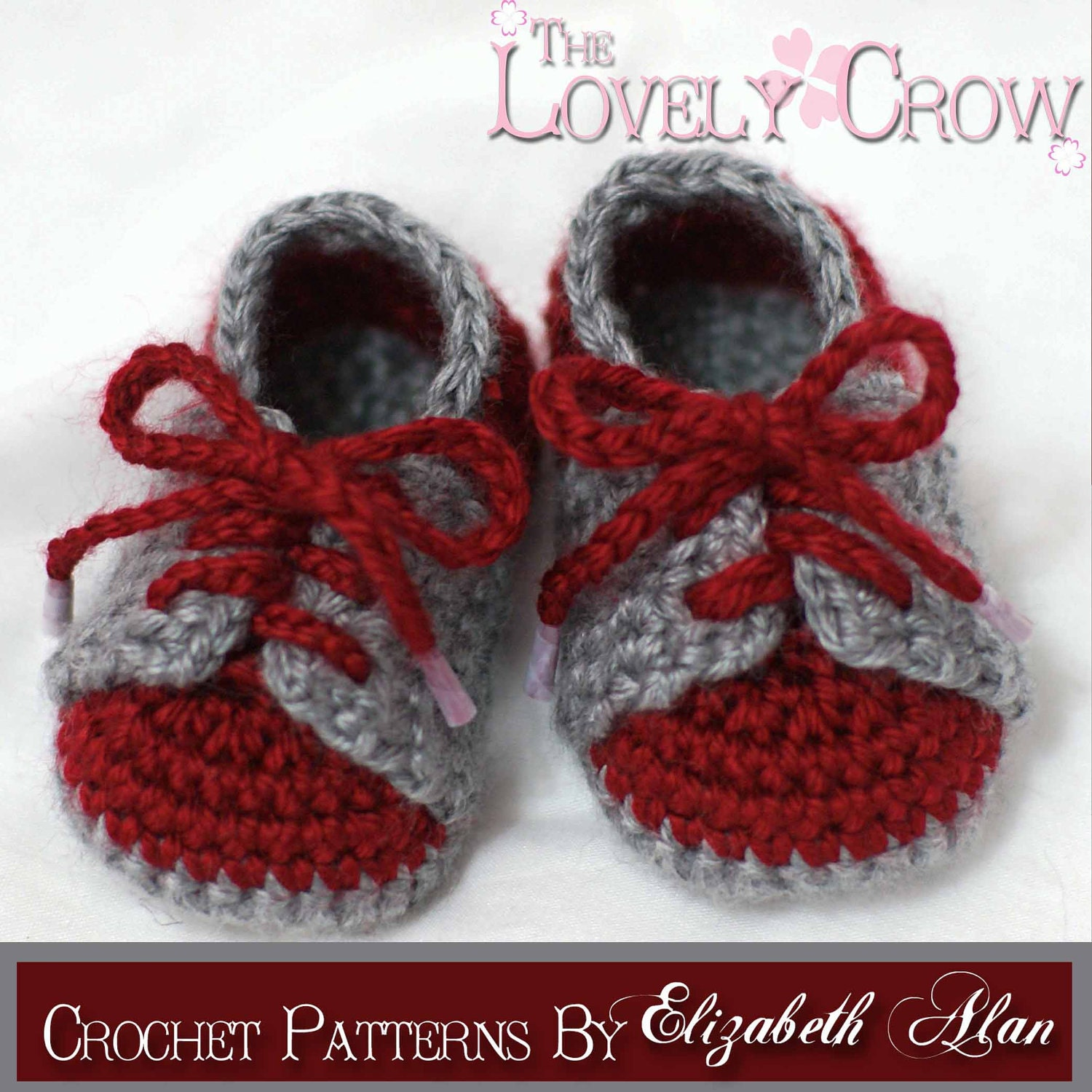 Crochet Baby Booties Pattern With Pictures : Baby Booties Crochet Pattern for LITTLE SPORT SADDLES digital