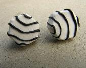 Zebra Cake Earrings