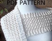 PDF Pattern Organic Cotton Knit Lace Scarf Scarves Instructions DIY