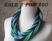Super Sale 5 Scarves for 60, Jersey T Shirt, Infinity, Cowl, Circular