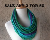 Any 2 For 49.99 - Deluxe Jersey Scarf Necklace, Infinity,Cowl, Tee Shirt Scarves