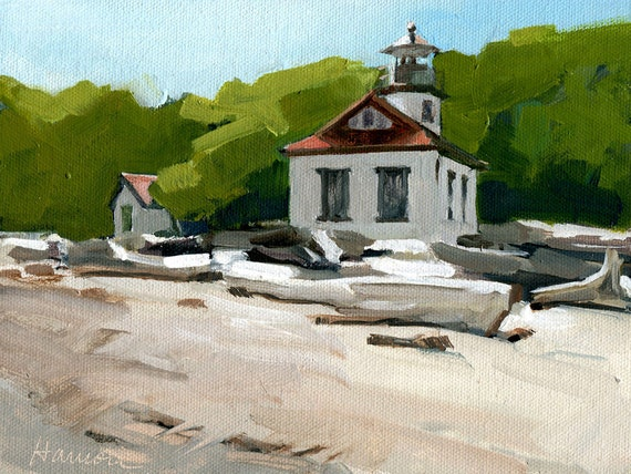 Pt Robinson Lighthouse with Driftwood