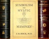 Occult Freemasonry RARE Book - Symbolism or Mystic Masonry - Antique Hardbound with DJ - Hidden Meanings